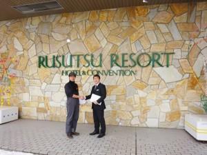 With owner of Rusutsu Resort