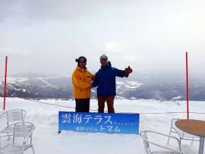 Owner Hiro Ueda with Ski field manager Mr.Norio Kanbayashi
