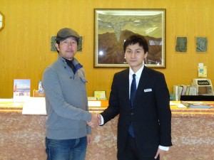 Owner Hiro Ueda with the manager Makoto Okano
